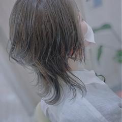 ネオウルフ 大人ハイライト ミディアム ウルフカット ヘアスタイルや髪型の写真・画像