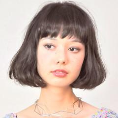 ナチュラル 艶髪 ワンカール ボブ ヘアスタイルや髪型の写真・画像
