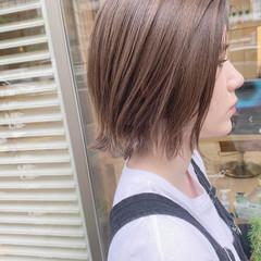 ボブ ナチュラル 透明感 ハイライト ヘアスタイルや髪型の写真・画像