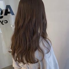 ナチュラル ロング 簡単ヘアアレンジ アッシュベージュ ヘアスタイルや髪型の写真・画像