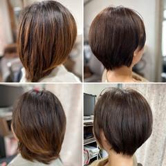 ベリーショート ガーリー ミニボブ ショート ヘアスタイルや髪型の写真・画像