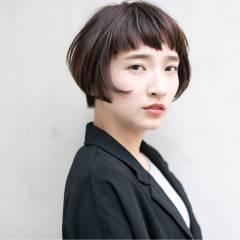 ウェットヘア マルサラ 外国人風 シースルーバング ヘアスタイルや髪型の写真・画像