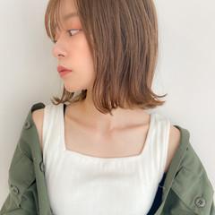 アンニュイほつれヘア 外ハネボブ デジタルパーマ ナチュラル ヘアスタイルや髪型の写真・画像