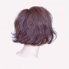 ナチュラル ショート ゆるふわ ボブ ヘアスタイルや髪型の写真・画像