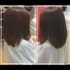 髪質改善 セミロング 艶髪 髪質改善トリートメント ヘアスタイルや髪型の写真・画像