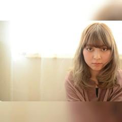 フェミニン ガーリー グラデーションカラー ロング ヘアスタイルや髪型の写真・画像