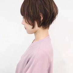 グレージュ ハイライト ベリーショート ショート ヘアスタイルや髪型の写真・画像