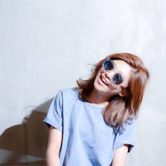 ミディアム インナーカラー グラデーションカラー ストリート ヘアスタイルや髪型の写真・画像