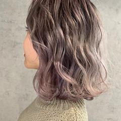 ハイトーンカラー パールピンク ボブ ブリーチ必須 ヘアスタイルや髪型の写真・画像
