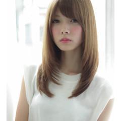 ロング 斜め前髪 色気 女子会 ヘアスタイルや髪型の写真・画像