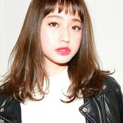 冬 前髪あり ストリート 暗髪 ヘアスタイルや髪型の写真・画像