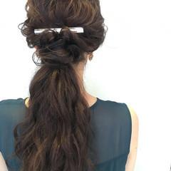結婚式 女子会 ナチュラル ロング ヘアスタイルや髪型の写真・画像