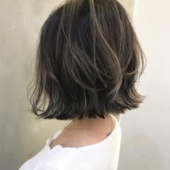 モード ハイライト ボブ 大人女子 ヘアスタイルや髪型の写真・画像