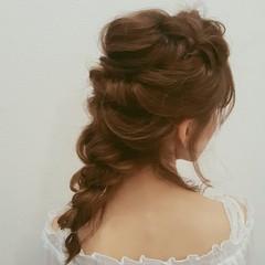 ナチュラル セミロング 簡単ヘアアレンジ デート ヘアスタイルや髪型の写真・画像