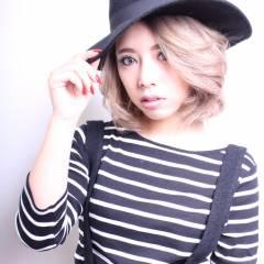 外国人風 ミディアム ストリート ハイトーン ヘアスタイルや髪型の写真・画像
