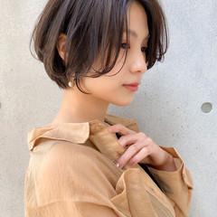 小顔 ナチュラル アンニュイほつれヘア イルミナカラー ヘアスタイルや髪型の写真・画像