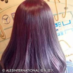 モード グラデーションカラー 暗髪 ストリート ヘアスタイルや髪型の写真・画像