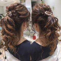 ポニーテール ロング くるりんぱ フェミニン ヘアスタイルや髪型の写真・画像