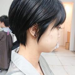 ナチュラル お手入れ簡単!! ハンサムショート 暗髪 ヘアスタイルや髪型の写真・画像
