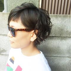 アッシュ ショート リラックス 大人かわいい ヘアスタイルや髪型の写真・画像