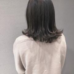 フェミニン ベージュ ブルージュ ミディアム ヘアスタイルや髪型の写真・画像