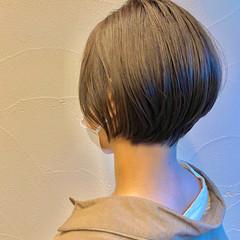 透明感カラー ショートヘア ナチュラル ショート ヘアスタイルや髪型の写真・画像