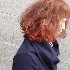 ボブ ゆるふわ ブリーチ ストリート ヘアスタイルや髪型の写真・画像