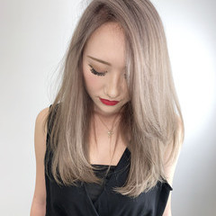 エレガント ミルクティーブラウン ショコラブラウン ブロンド ヘアスタイルや髪型の写真・画像