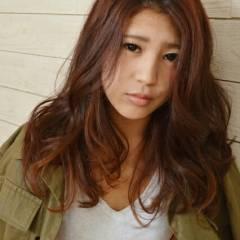 モード マルサラ ロング 大人かわいい ヘアスタイルや髪型の写真・画像