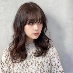 ミディアムレイヤー セミロング 透明感カラー レイヤーカット ヘアスタイルや髪型の写真・画像