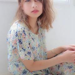 大人かわいい ヘアカラー デート フェミニン ヘアスタイルや髪型の写真・画像