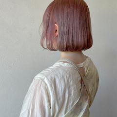 ボブ ハイトーンボブ ガーリー ハイトーン ヘアスタイルや髪型の写真・画像
