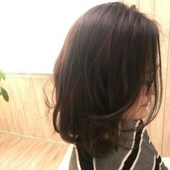 ナチュラル ミディアム デジタルパーマ 縮毛矯正 ヘアスタイルや髪型の写真・画像