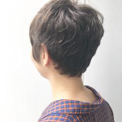 ベリーショート ヘアアレンジ グレージュ 似合わせ ヘアスタイルや髪型の写真・画像