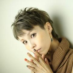 アッシュ 外国人風 ショート モード ヘアスタイルや髪型の写真・画像