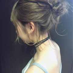 大人かわいい 簡単ヘアアレンジ ゆるふわ ミディアム ヘアスタイルや髪型の写真・画像