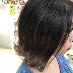 ガーリー ボブ アッシュグラデーション アンニュイほつれヘア ヘアスタイルや髪型の写真・画像