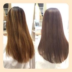 艶髪 ロング 大人かわいい グレージュ ヘアスタイルや髪型の写真・画像
