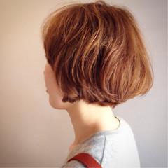 ナチュラル 大人かわいい ふわふわ ボブ ヘアスタイルや髪型の写真・画像