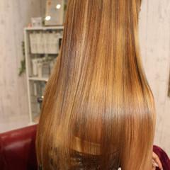 外国人風 艶髪 ロング ストレート ヘアスタイルや髪型の写真・画像