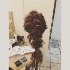 ガーリー ショート ヘアアレンジ ゆるふわ ヘアスタイルや髪型の写真・画像