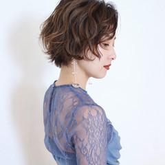 セルフアレンジ ショートヘア ガーリー 大人ショート ヘアスタイルや髪型の写真・画像