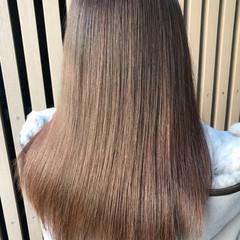 ロング ナチュラル 髪質改善 縮毛矯正 ヘアスタイルや髪型の写真・画像