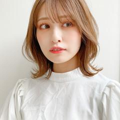 デート ナチュラル モテ髪 ミディアム ヘアスタイルや髪型の写真・画像