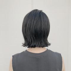 外ハネボブ 透明感カラー ダークトーン ボブ ヘアスタイルや髪型の写真・画像