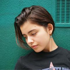 外国人風カラー 小顔 ショート ハイトーン ヘアスタイルや髪型の写真・画像
