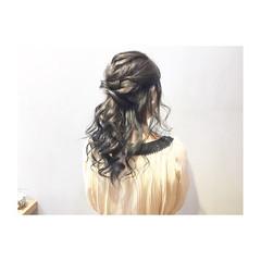 結婚式 ナチュラル デート ヘアアレンジ ヘアスタイルや髪型の写真・画像