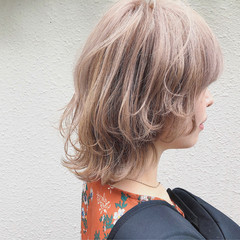 ストリート マッシュ ショート ミルクティーベージュ ヘアスタイルや髪型の写真・画像