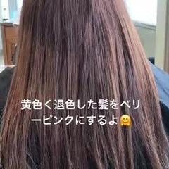 ロング モテ髪 ガーリー ピンク ヘアスタイルや髪型の写真・画像