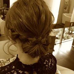 ヘアアレンジ セミロング 結婚式 ヘアスタイルや髪型の写真・画像